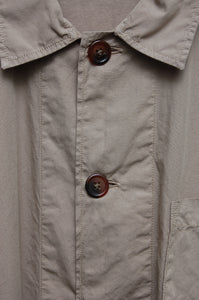 Universal Works Bakers Overshirt poplin warm stone 18653