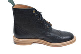 NPS Heath Brogue Boot black scotch grain