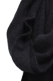 Noble Wilde Monti Moss Stitch Scarf black