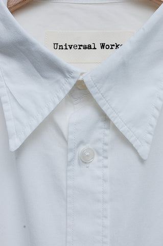 Universal Works Point Collar Shirt Poplin ecru 16652