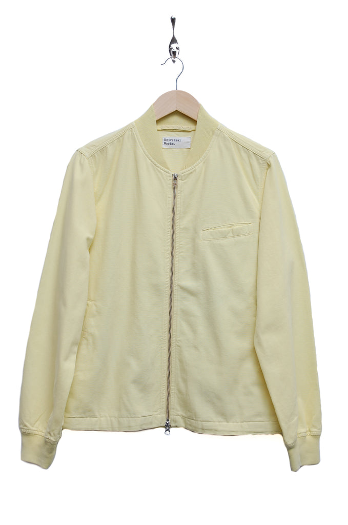 Universal Works Digey Bomber Jacket canvas lemon 18538