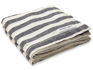 Frescobol Carioca Linen Towel midnight midnight blue/white