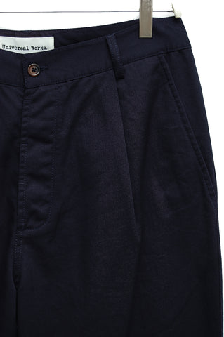 Universal Works Pleated Pant navy 17224