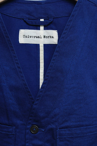 Universal Works Work Wasitcoat Twill royal blue