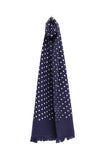 Universal Works Short Scarf Dot Print navy