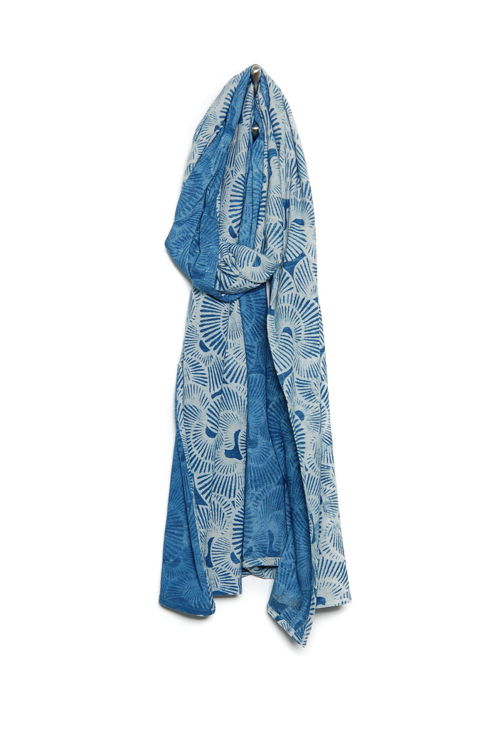 Indigo People Shell Scarf