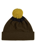 Jo Gordon Top Spot Pompom Hat military & black