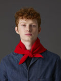 Jo Gordon Plain Triangle Neckerchief scarlet