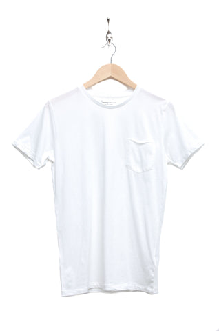Knowledge Cotton Apparel Pocket Tee bright white 1010