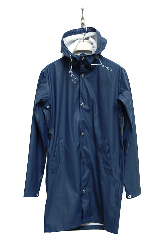 Knowledge Cotton Apparel Long Rain Jacket 92201 insignia blue 1222