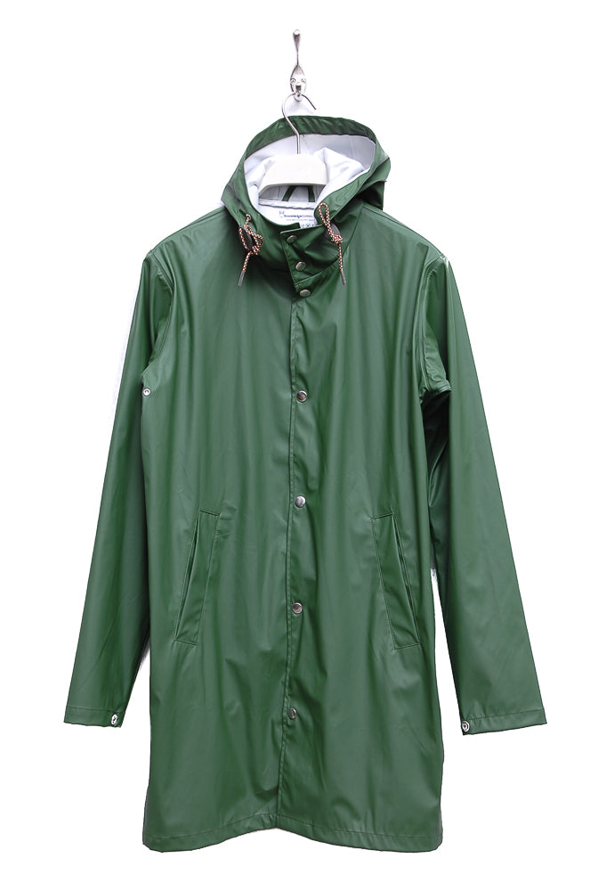 Knowledge Cotton Apparel Long Rain Jacket 92201 black forest 1249