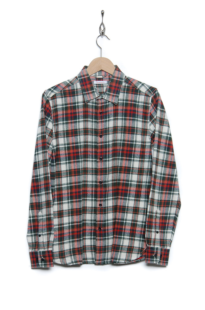 Knowledge Cotton Apparel Flannel 90772 1278 forest green