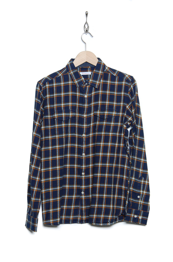 Knowledge Cotton Apparel Flannel Pocket 90612 1001 total eclipse