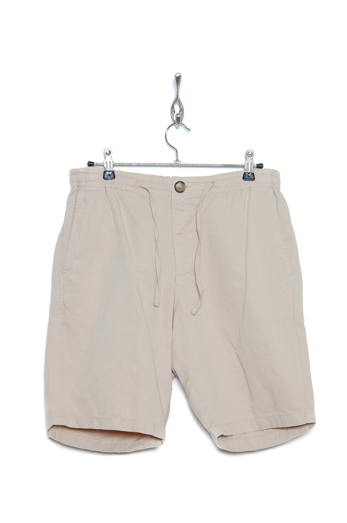 Knowledge Cotton Apparel Garment dyed shorts light feather gray
