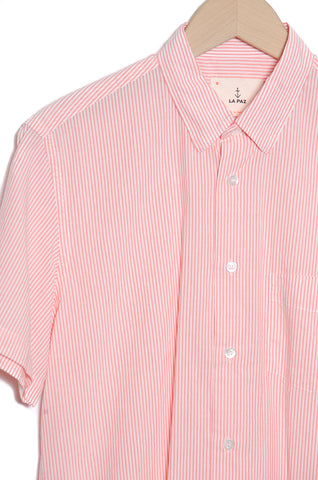 LA PAZ Ribeiro  Chest pocket coral stripes