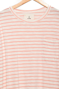 La Paz Guerreiro Pocket salmon stripes