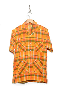 Cuban Short Sleeve orange check