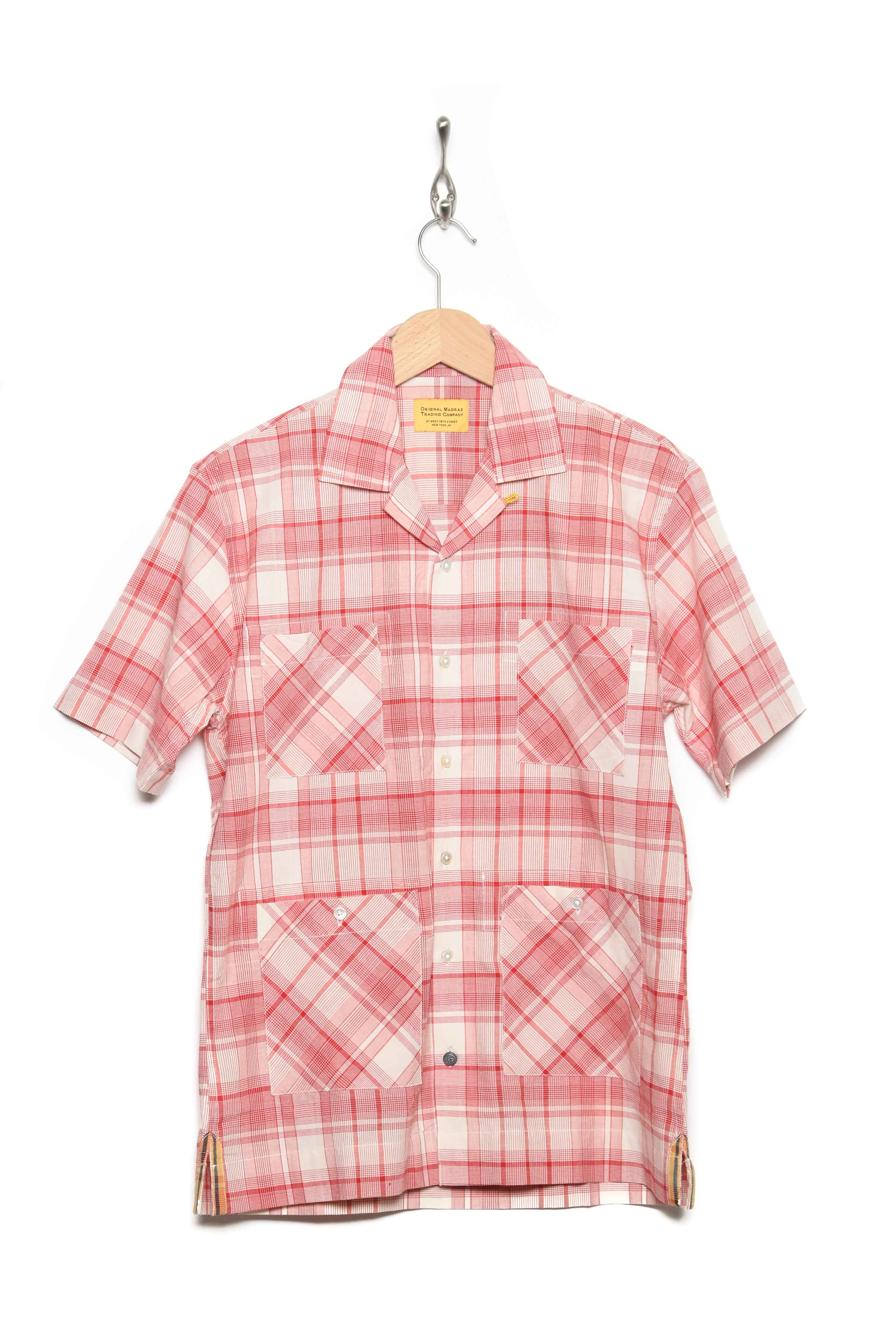 Short Sleeve red check