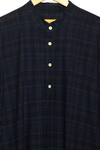 Long Kurta navy plaid