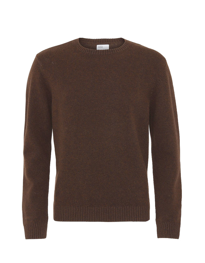 Colorful Standard Merino Wool Crew coffee brown