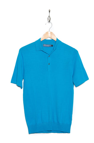 Moray Cashmere Polo Shirt turquoise SW610