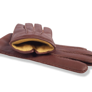 Nordic Moose Andrassy 18101 chestnut leather, yellow cashmere lining