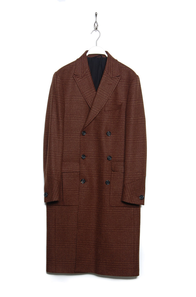 Oliver Spencer OSMJ307 Palmerston DB Overcoat rust