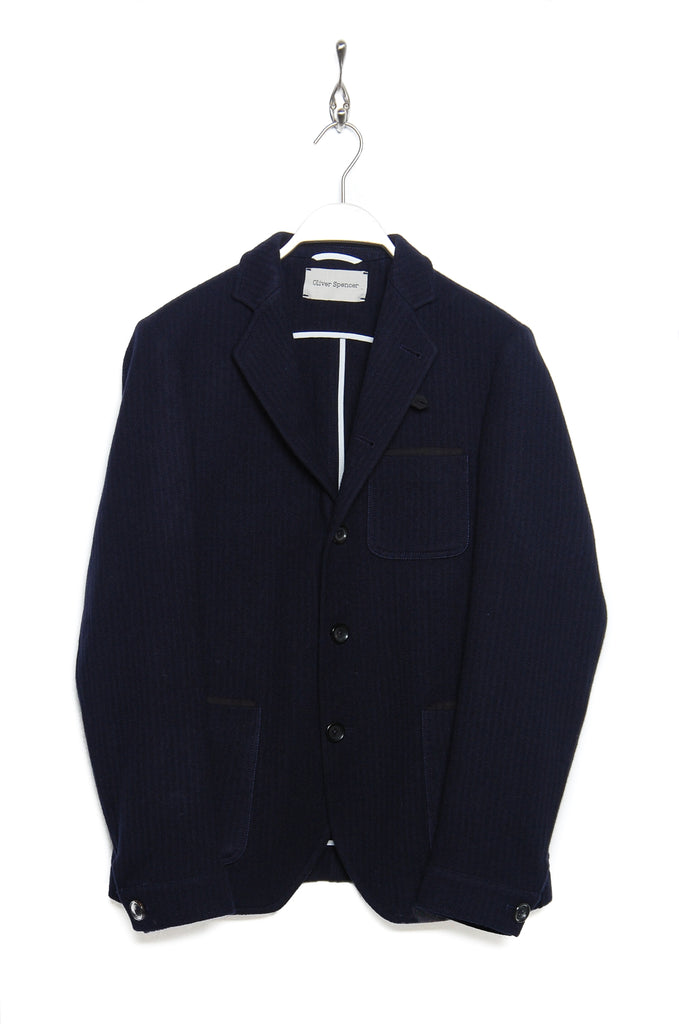 Oliver Spencer OSMJ201D HEATON Solms Jacket navy