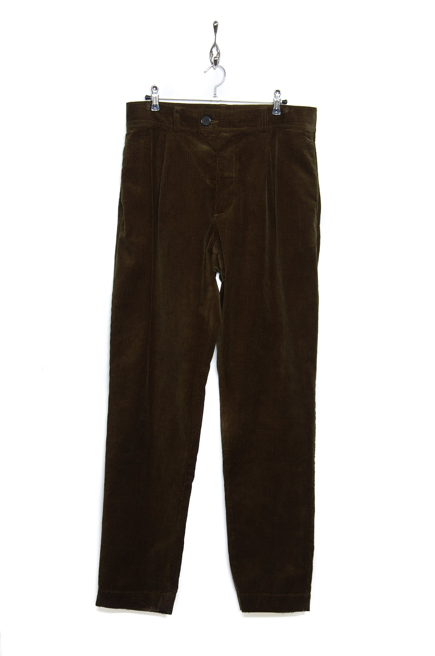 Oliver Spencer OSMT60 PENTON CORD Pleat Trouser green