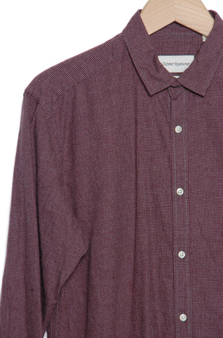 Oliver Spencer OSMS66A RED PIPPEN Clerkenwell Tab Shirt red