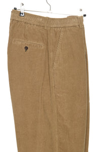 Pleated Track Pant 23511 Cord taupe
