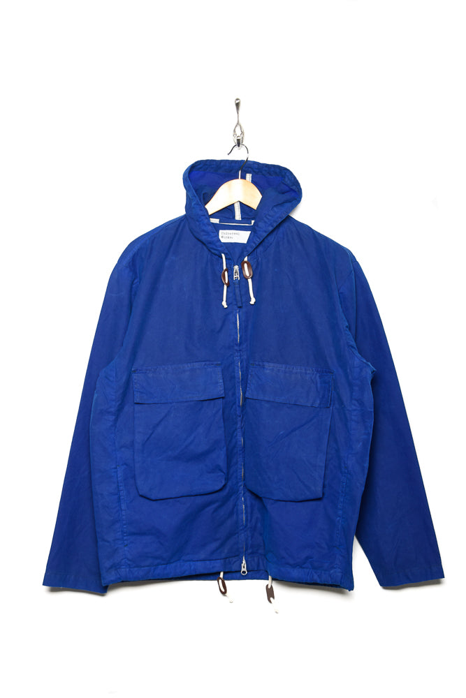 Universal Works Hangout Jacket Tek Wax blue