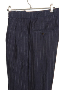 Universal Works Double Pleat Pant 20531 blue stripe