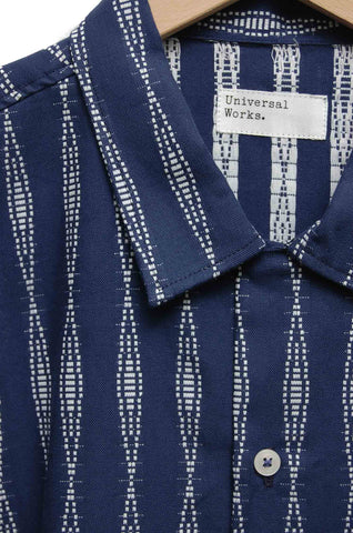Universal Works Road Shirt 18656 congo stripe navy
