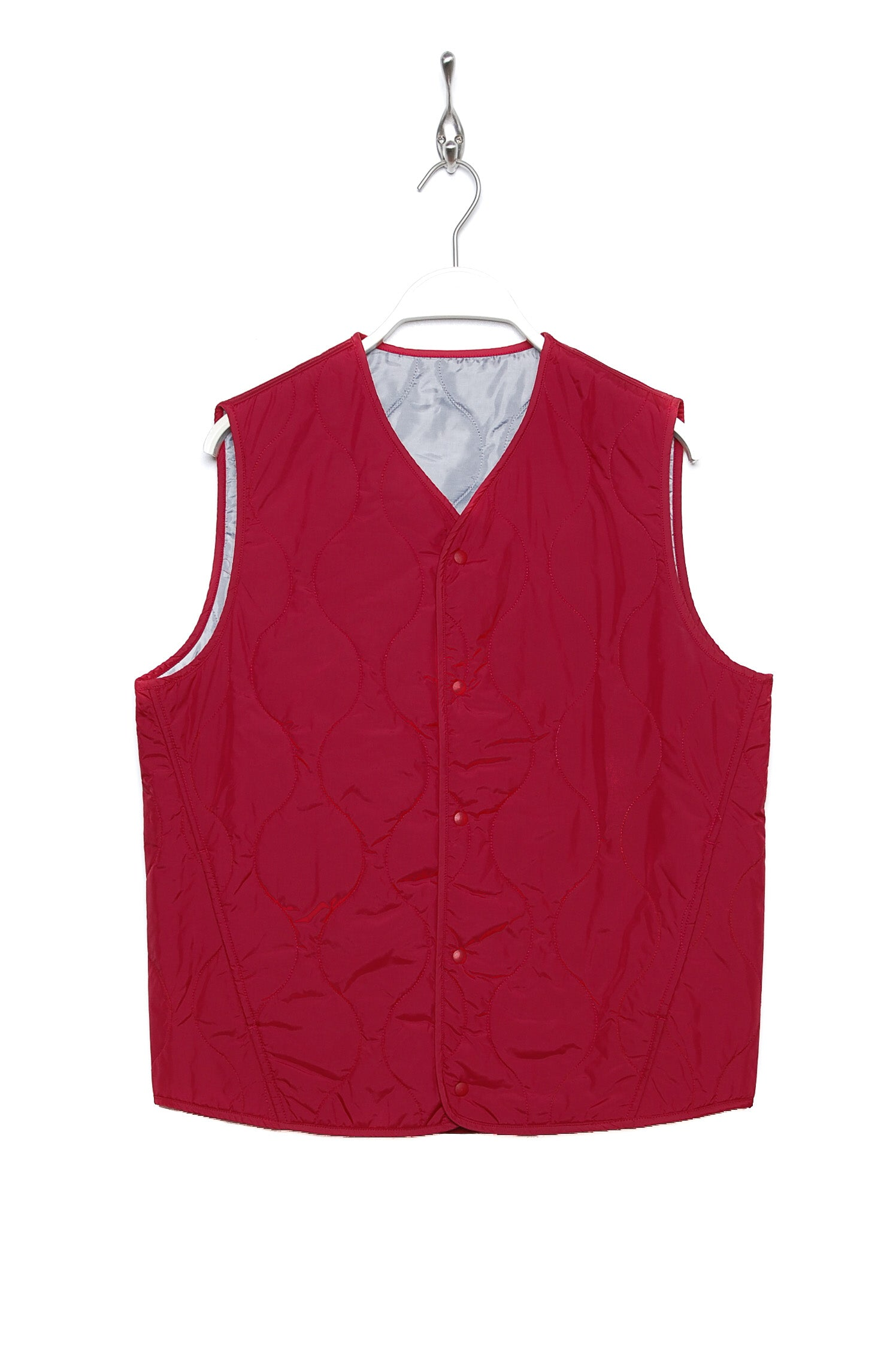 Universal Works Surfer Gilet Italian Nylon red 19188
