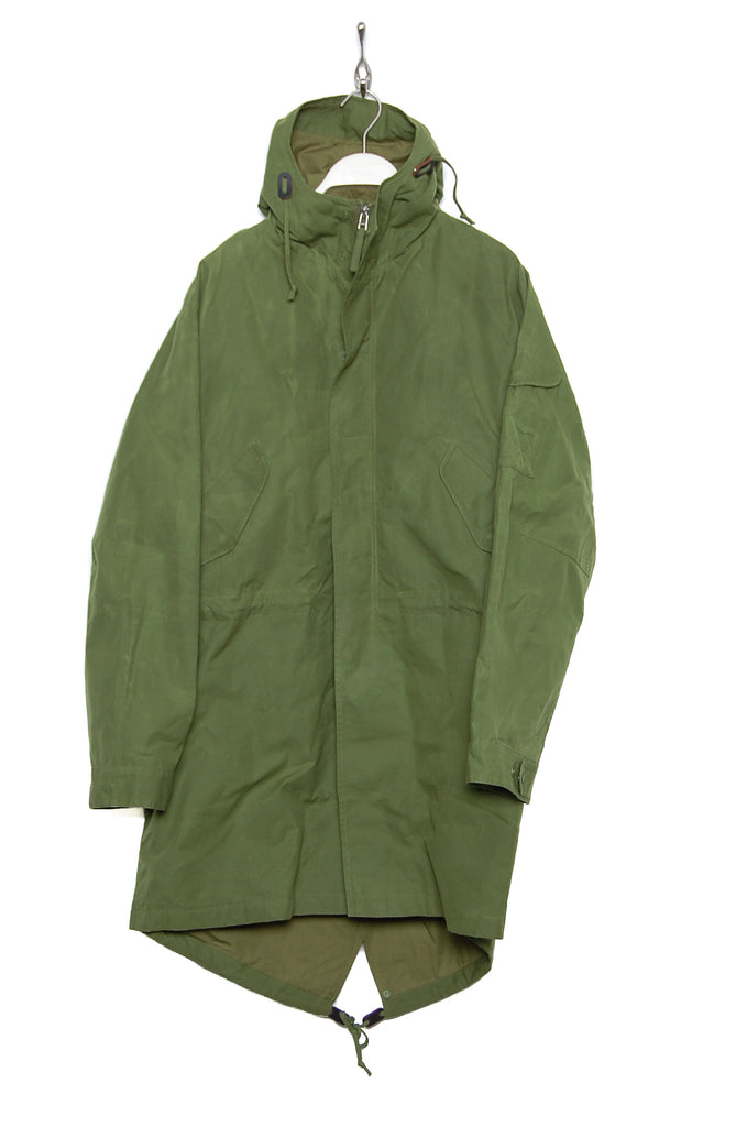 Universal Works Parka Scottish Wax Cotton green 19122
