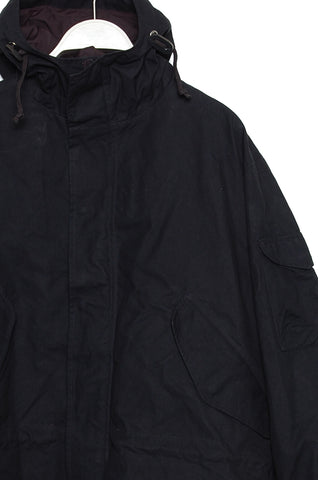 Universal Works Parka Scottish Wax Cotton black 19122
