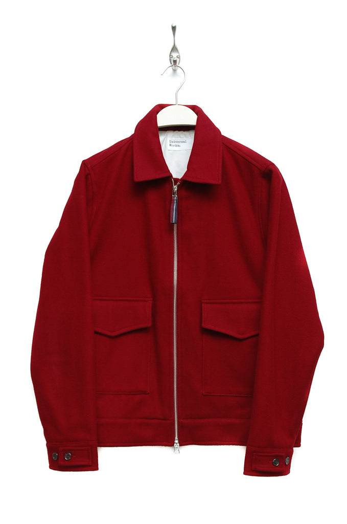 Universal Works Battleman Jacket Melton red 19504