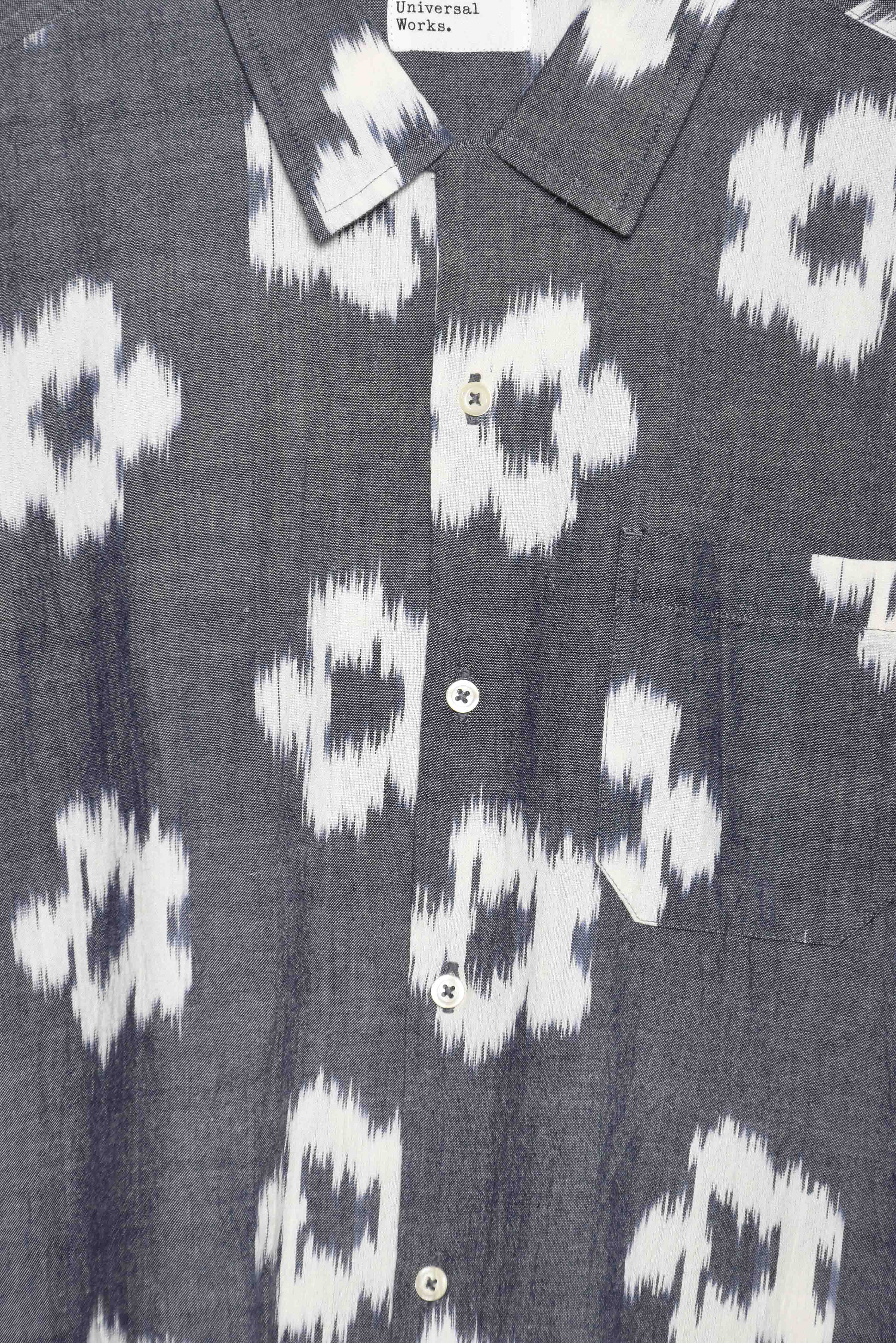 Universal Works Road Shirt ikat flower grey 22156