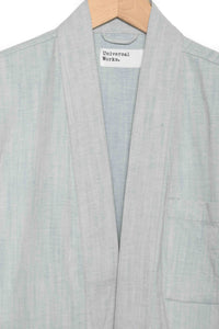 Universal Works Tie Front Jacket washed blue 22115