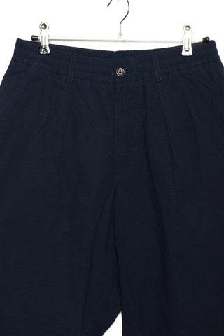 Universal Works Pleated Track Pant ripstop navy 22123