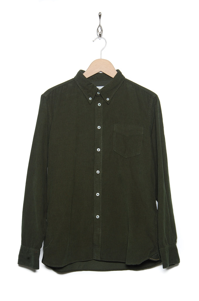 Universal Works Everyday Shirt 21555 fine cord green