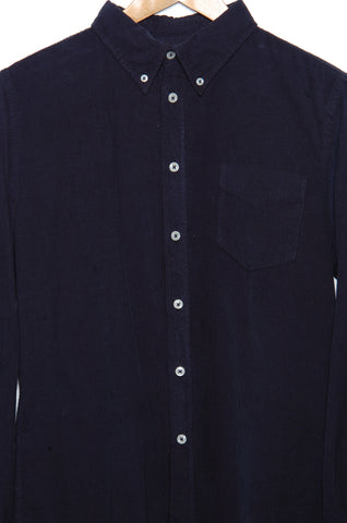 Universal Works Everyday Shirt 21555 fine cord navy