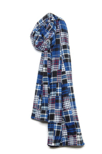 Universal Works Long Scarf 21168 Patchwork blue
