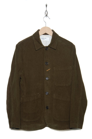 Universal Works Bakers Jacket 21510 Cord olive