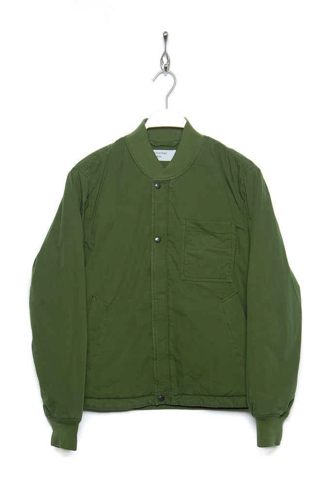 Universal Works Carlton Jacket 21549 Quilt green