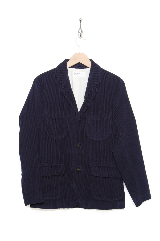 Universal Works Barra Jacket 21507 Cord navy