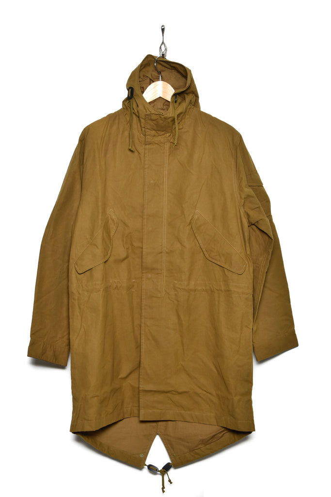 Universal Works 21122 scottish wax cotton parka mustard