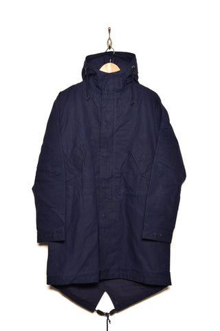 Universal Works 21122 scottish wax cotton parka navy