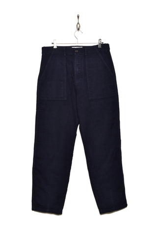 Universal Works 21547 moleskin fatigue pant navy